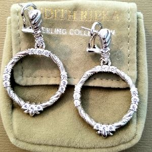 Judith Ripka silver earrings - NWOT